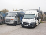 5 X WHEELCHAIR ACCESSIBLE WELFARE BUSES, 2 X JACKLEG OFFICES, WORKSHOP EQUIPMENT & OFFICE FURNITURE